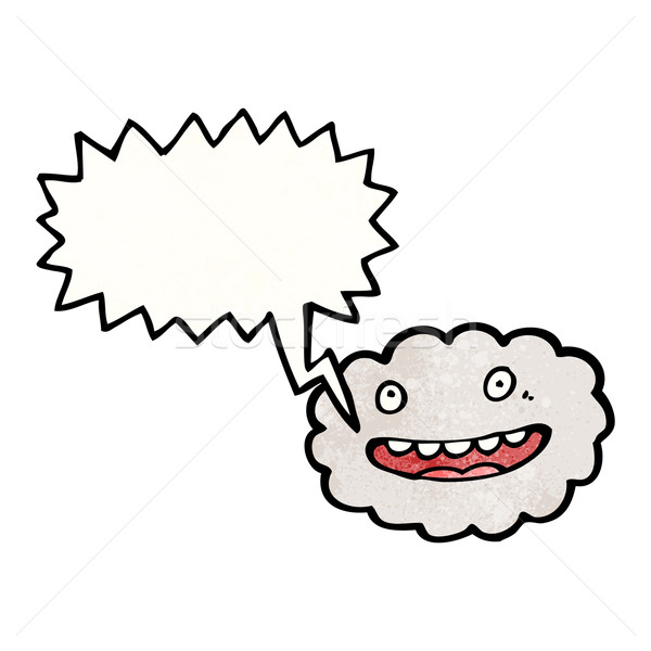 happy cloud with speech bubble Stock photo © lineartestpilot