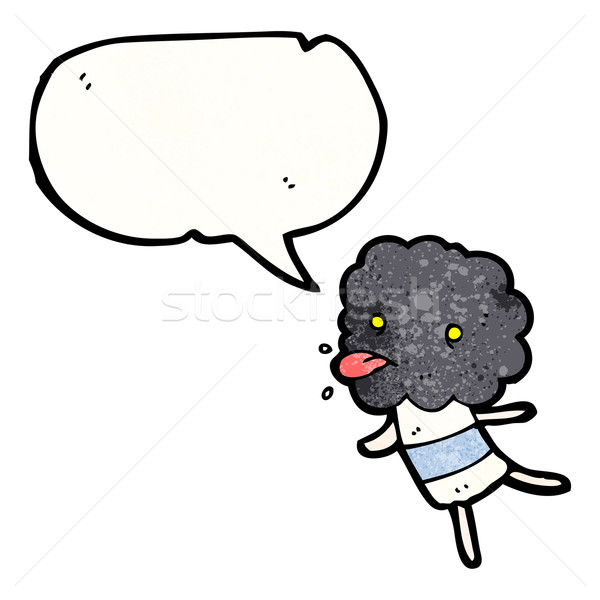 cartoon little thunderhead cloud creature Stock photo © lineartestpilot