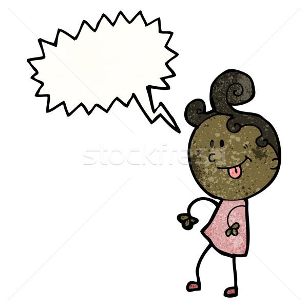 ditsy dancing girl cartoon Stock photo © lineartestpilot