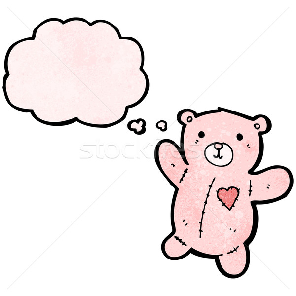 Zdjęcia stock: Cartoon · różowy · miś · retro · balon · rysunek