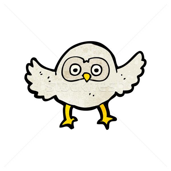 Stock photo: cute little owl cartoon
