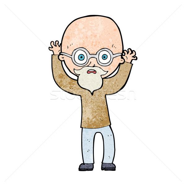 Cartoon chauve homme main design Photo stock © lineartestpilot
