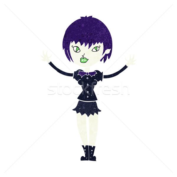 Сток-фото: Cartoon · вампир · девушки · женщину · стороны · дизайна
