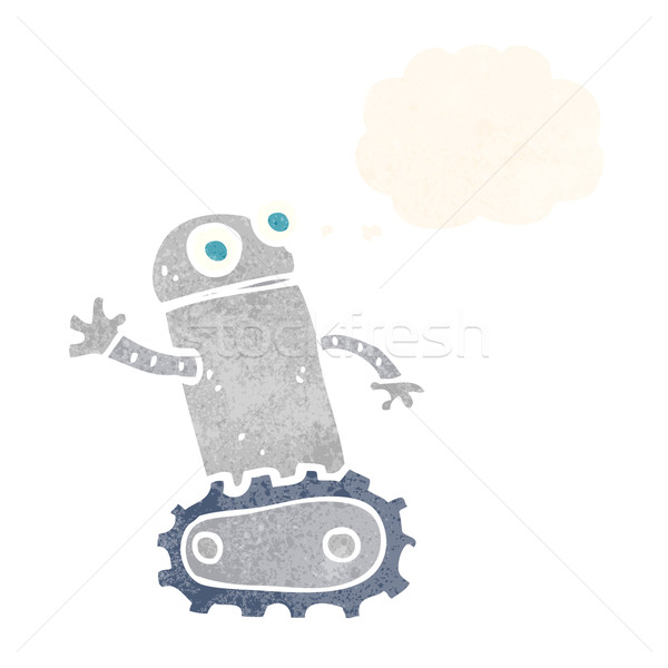 cartoon robot with thought bubble Stock photo © lineartestpilot