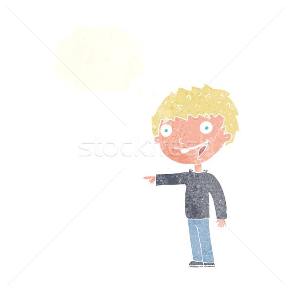 漫画 笑い 思考バブル 手 男 ストックフォト © lineartestpilot