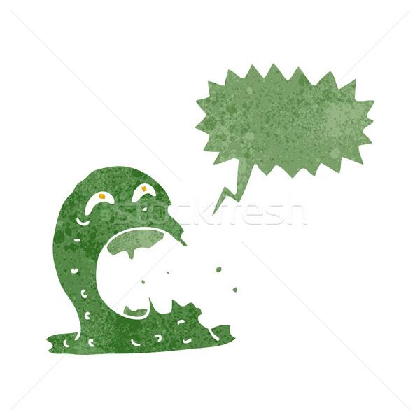 cartoon gross ghost with speech bubble Stock photo © lineartestpilot