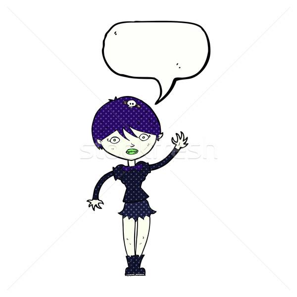 Cartoon vampiro ragazza fumetto donna Foto d'archivio © lineartestpilot