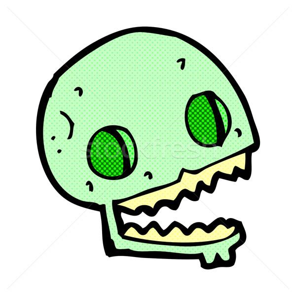 comic cartoon spooky skull Stock photo © lineartestpilot