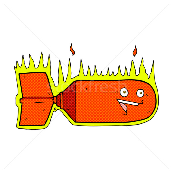 комического Cartoon падение бомба ретро Сток-фото © lineartestpilot