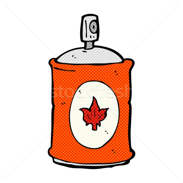 Képregény rajz illat spray retro képregény Stock fotó © lineartestpilot