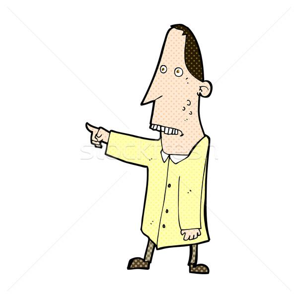 Fumetto cartoon brutto uomo punta retro Foto d'archivio © lineartestpilot