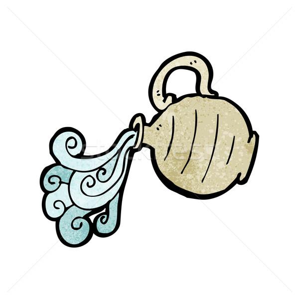 Karikatür sürahi su imzalamak konuşma Stok fotoğraf © lineartestpilot