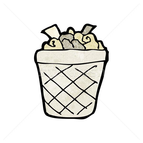 Rajz hulladék tároló konyha retro rajz Stock fotó © lineartestpilot