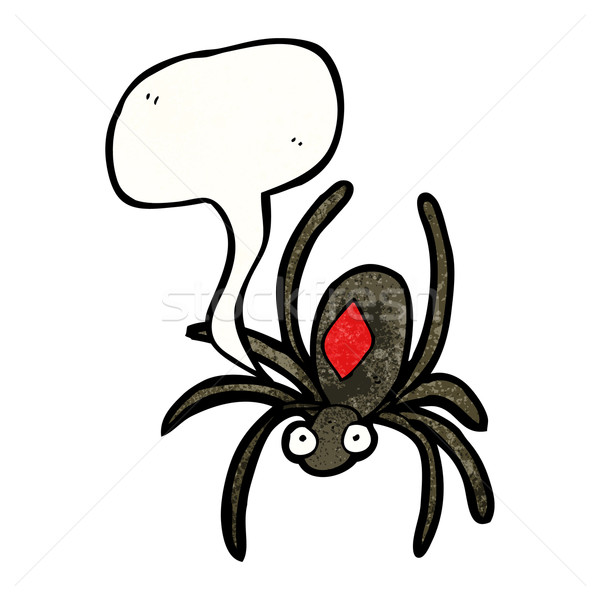 poisonous spider cartoon Stock photo © lineartestpilot