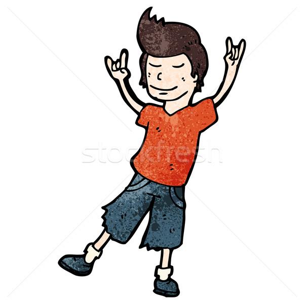 cartoon man rocking out Stock photo © lineartestpilot