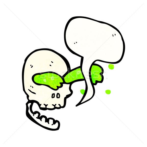 Cartoon слизь череп ретро текстуры изолированный Сток-фото © lineartestpilot