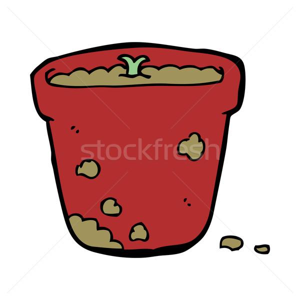 cartoon flower pot Stock photo © lineartestpilot