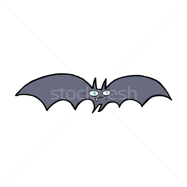 Cartoon vampier bat hand ontwerp gek Stockfoto © lineartestpilot