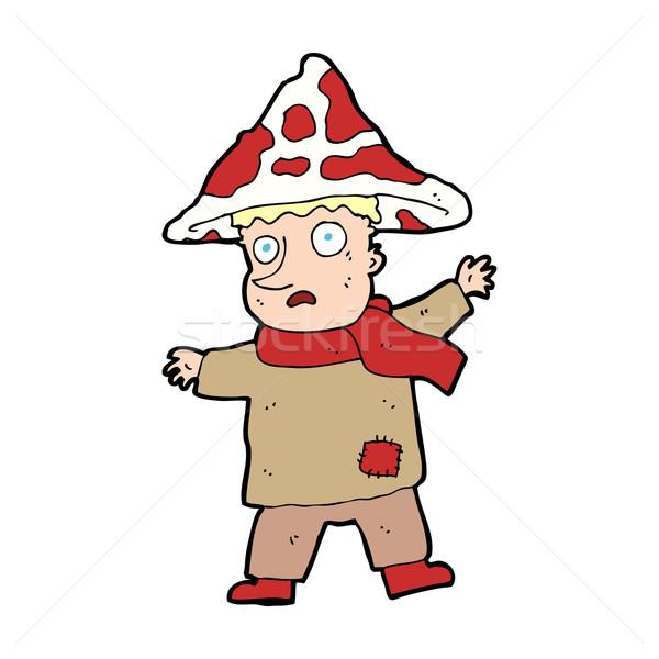 Cartoon magiczny grzyby człowiek strony projektu Zdjęcia stock © lineartestpilot