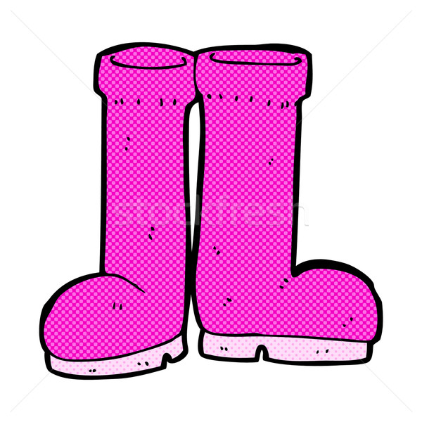 comic cartoon rubber boots Stock photo © lineartestpilot
