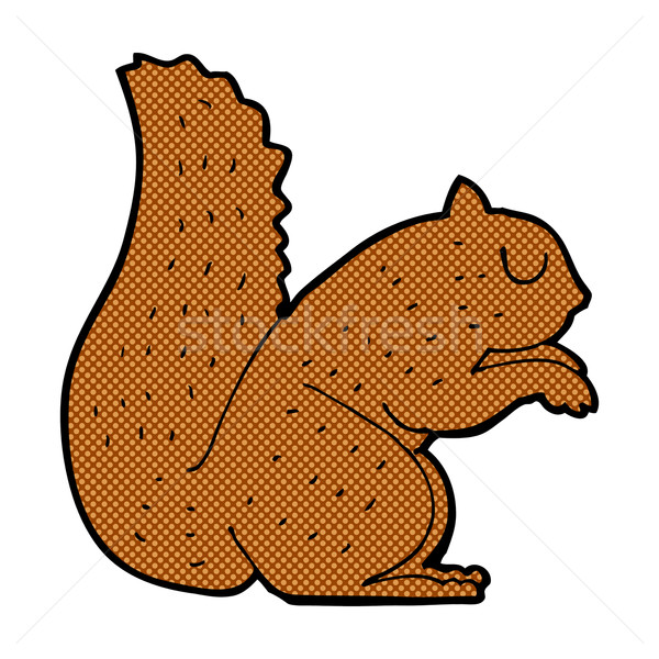 Dessinées cartoon écureuil rétro style Photo stock © lineartestpilot