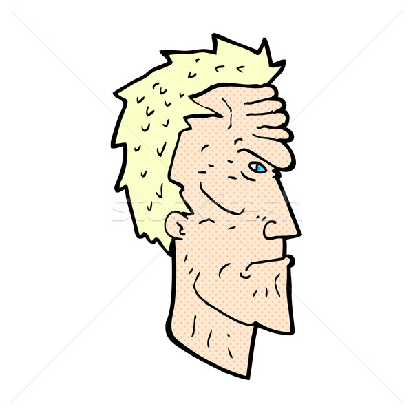comic cartoon angry face Stock photo © lineartestpilot