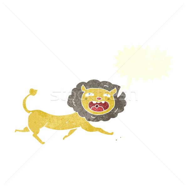 Cartoon lew dymka strony projektu sztuki Zdjęcia stock © lineartestpilot