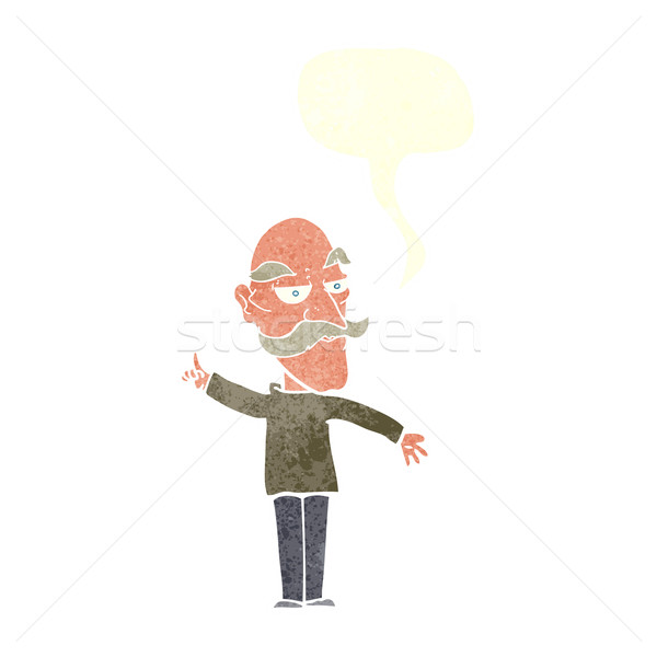 cartoon old man telling story with speech bubble Stock photo © lineartestpilot