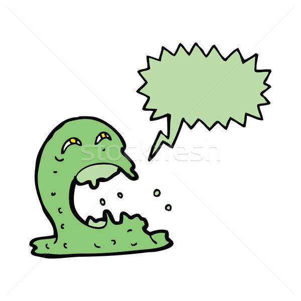 Cartoon fantasma bocadillo mano diseno loco Foto stock © lineartestpilot