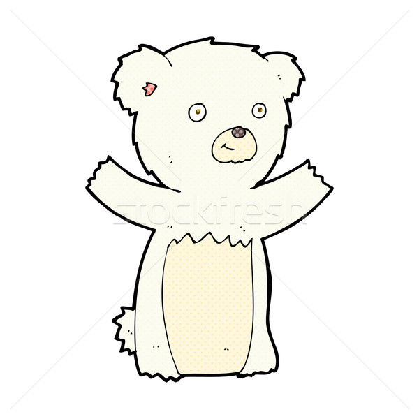 comic cartoon polar bear cub Stock photo © lineartestpilot