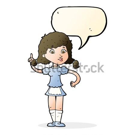 comic cartoon pretty maid woman Stock photo © lineartestpilot