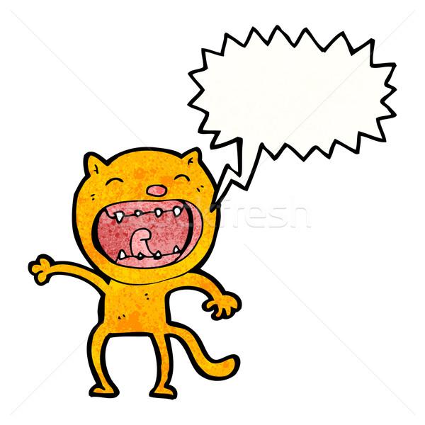 кошки Cartoon ретро рисунок Cute иллюстрация Сток-фото © lineartestpilot