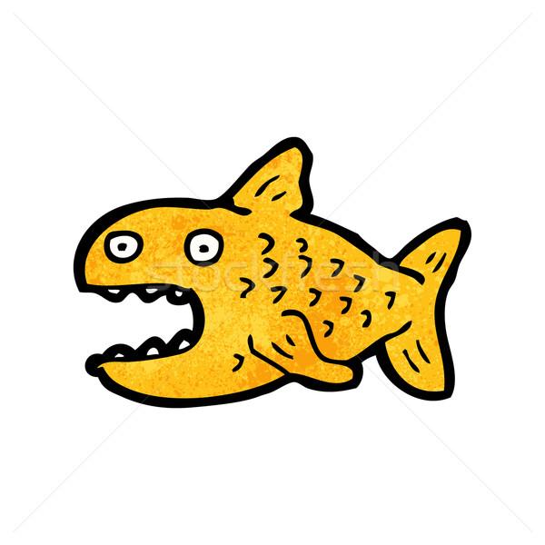 Stock photo: cartoon goldfish