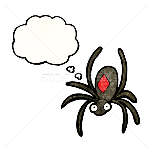 Stock photo: cartoon deadly spider