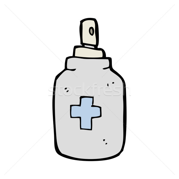 cartoon antiseptic spray Stock photo © lineartestpilot