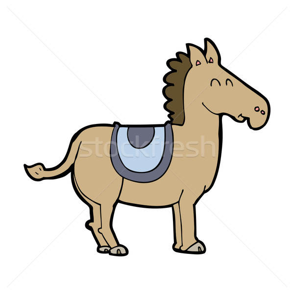 Cartoon osioł strony projektu zwierząt crazy Zdjęcia stock © lineartestpilot