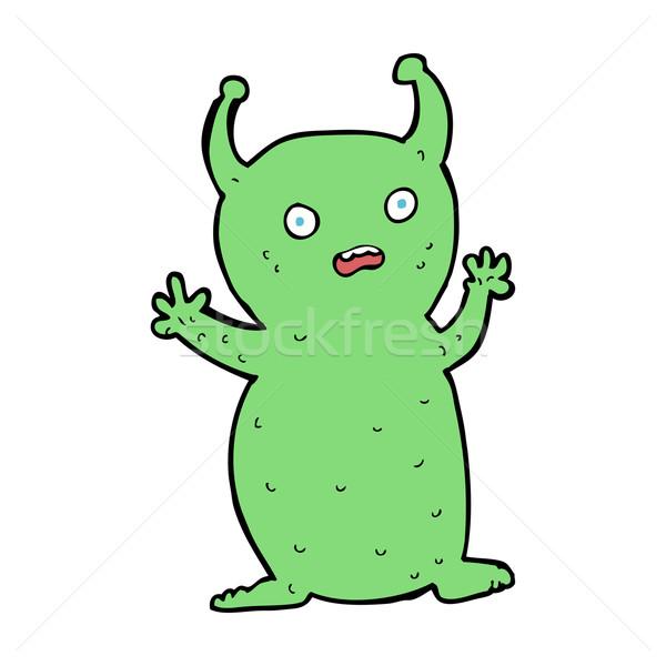 Desenho animado engraçado pequeno alienígena mão projeto Foto stock © lineartestpilot