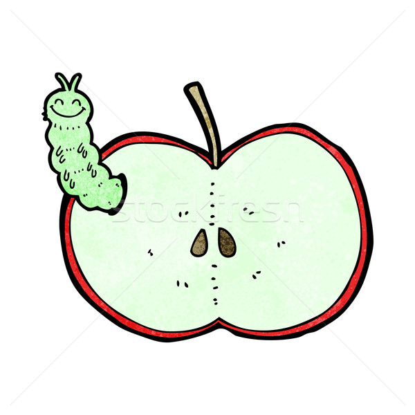 Cartoon bug manger pomme design fruits Photo stock © lineartestpilot