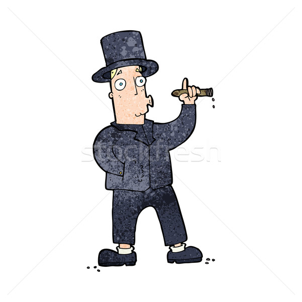 cartoon smoking gentleman Stock photo © lineartestpilot