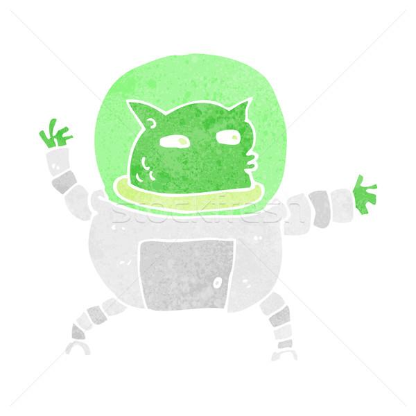 Desenho animado alienígena homem projeto arte retro Foto stock © lineartestpilot