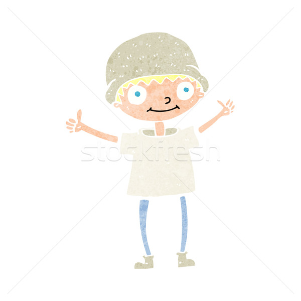 cartoon boy with positive attitude Stock photo © lineartestpilot