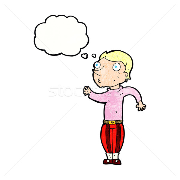 cartoon man in loud clothes with thought bubble Stock photo © lineartestpilot