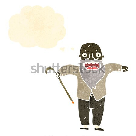 comic cartoon terrified man pointing Stock photo © lineartestpilot