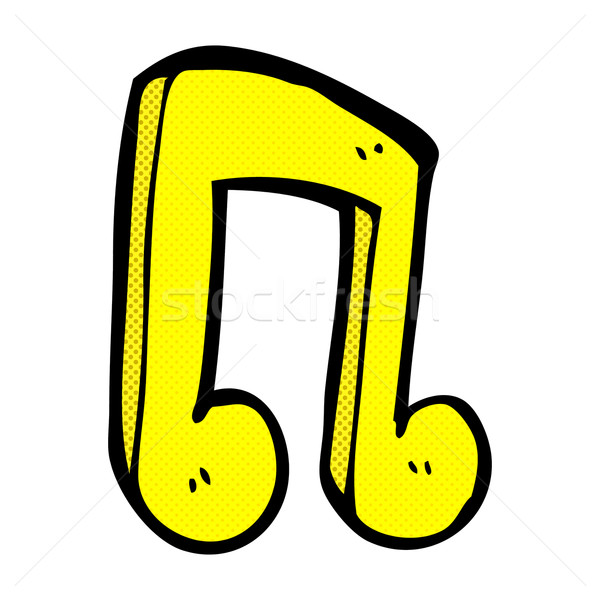 Képregény rajz zenei hang retro képregény stílus Stock fotó © lineartestpilot