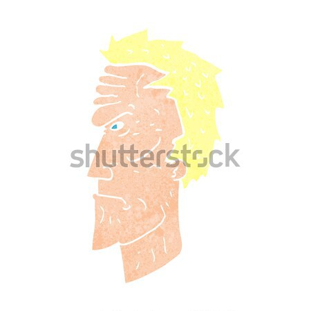 cartoon annoyed man with thought bubble Stock photo © lineartestpilot
