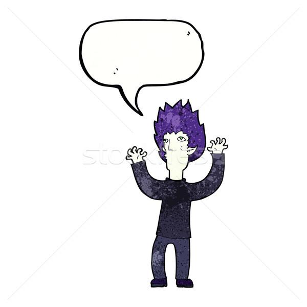 cartoon vampire with speech bubble Stock photo © lineartestpilot