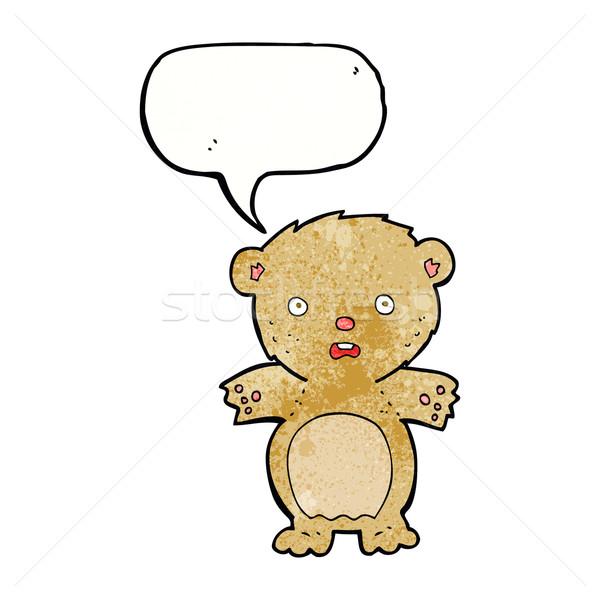 Spaventato orsacchiotto cartoon fumetto mano design Foto d'archivio © lineartestpilot