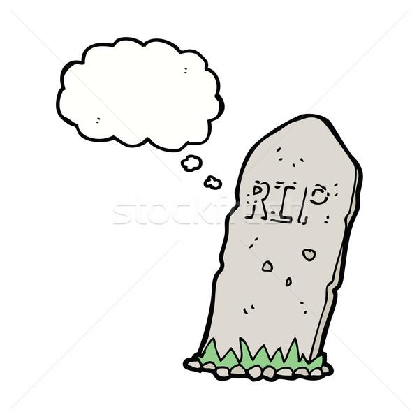 Karikatür mezar düşünce balonu el dizayn Stok fotoğraf © lineartestpilot