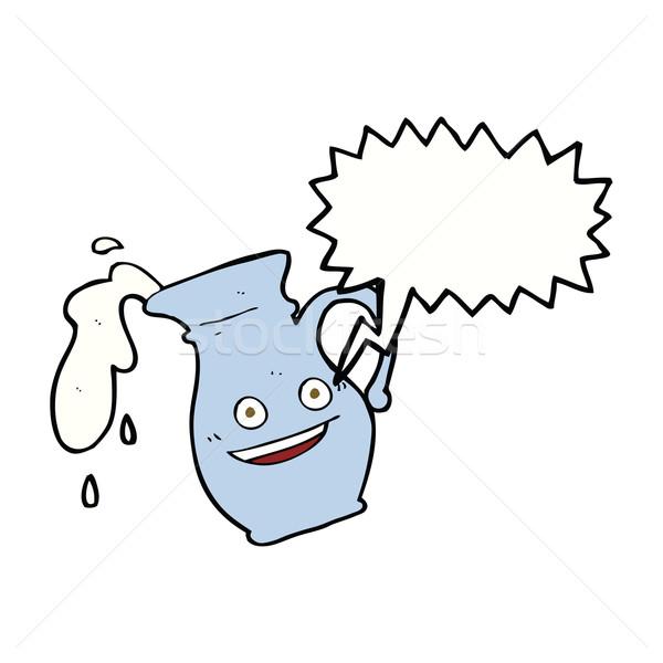 Karikatür konuşma balonu el dizayn süt Stok fotoğraf © lineartestpilot