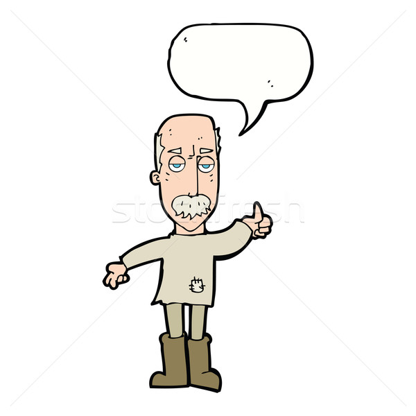 Cartoon molesto viejo bocadillo mano diseno Foto stock © lineartestpilot